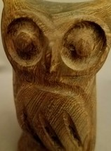 "OWL Hand Carved Hardwood 4.75"" Paperweight Collectible Figure Statue Fig... - $15.86"