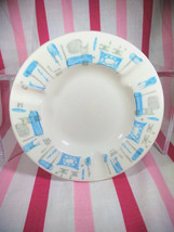 Mid Century Royal China Vintage Ceramic Blue Heaven Pattern Ashtray - $16.00
