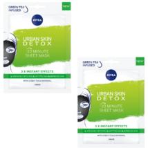 2 Nivea Urban Skin Detox Sheet Mask 1 pc - $29.00