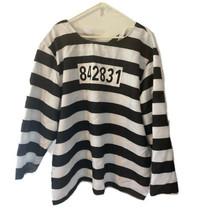 Spirit Prisoner Adult Halloween Costume Shirt Jailbird Plus XXL Cosplay ... - $9.89