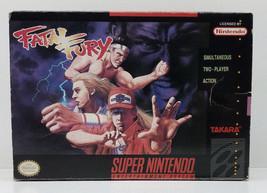 Fatal Fury Super Nintendo SNES Box Only Original 1992 Box - $13.49