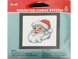 Plaid Counted Cross Stitch Kit With Frame, Set of 4 image 4
