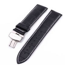 W-Band 20mm Leather Watch Band With Double Butterfly-Clasp For Longines ... - £21.53 GBP