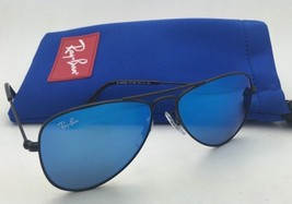 Junior Collection Kids Ray-Ban Sunglasses RJ 9506-S 201/55 Black w/ Blue Mirror - $89.95