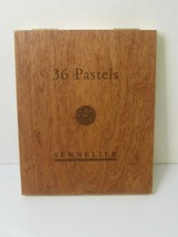 sennelier oil pastels 36 in wooden box, brand new in open box - $120.49