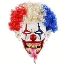 Novelty Clown Mask Scary Latex Mask Halloween Decoration Props Costume P... - £14.36 GBP+