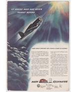 WW2 era Nash Kelvinator color print advert Vtg 1942 U.S. Navy Corsair - $14.00