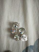 5 pcs Nail Art 3D Crystal Charm Spinner Rhinestone Glitter Manicure DIY Decor image 5