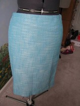 Talbots Petite Blue & White  Women Straight Skirt  Size 8P NWT - $33.66
