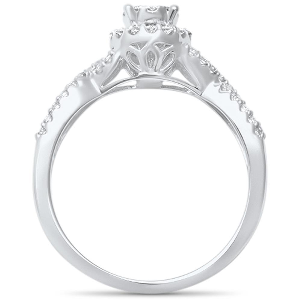 14K White Gold .41 CTW Twisted Band Promise Ring - Size 6.5