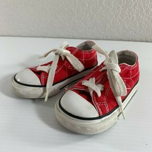 Converse One Star Toddler Kids Sneakers Shoes Size 5 Red White Athletic Lace Up - $18.81