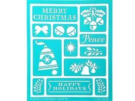 Martha Stewart Crafts Holiday Bells & Phrases Self-Adhesive Stencil #33004 image 2