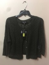 NWT JONES NEW YORK Open Front 3/4 Sleeve Cardigan Sweater PM petite - $37.44