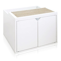 Way Basics Cat Litter Enclosure, White - $89.98