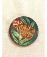 c1960s Lucille Cantini Signed Small Dish Enamel Over Copper Mid Century ... - $173.24