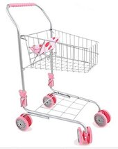 Melobo Toy Shopping Cart Foldable Play Set Boy Toy Girl Toy Shopping Roll Play 2
