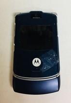Motorola Razr V3m V3 Cell Phone Razor BLUE razer flip camera vCast UNTES... - $13.74