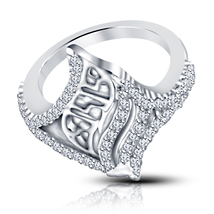 14k White Gold Plated Sterling Silver New Women's Unique Style Engagemen... - $66.59