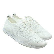 COLE HAAN ZeroGrand Womens White Leather Perforated Lace-up Fashion Snea... - $44.54