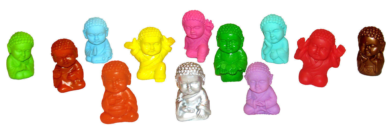 Pocket Buddha Buddhism Min Figure Figurine Toy Series 1 & 2, Set of 12