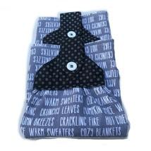 Handmade Fall Hanging Dish Towel Sewed Top Fall Words Black Top-Set of 2 - $18.69