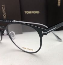 New TOM FORD Classic Eyeglasses TF 5482 001 50-21 Black & Silver Titanium Frames image 7