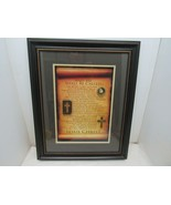 """And He Shall Be Called Jesus Christ Wall Hanging 21.5"""" x 17.25"""" Black Frame - $39.55"""
