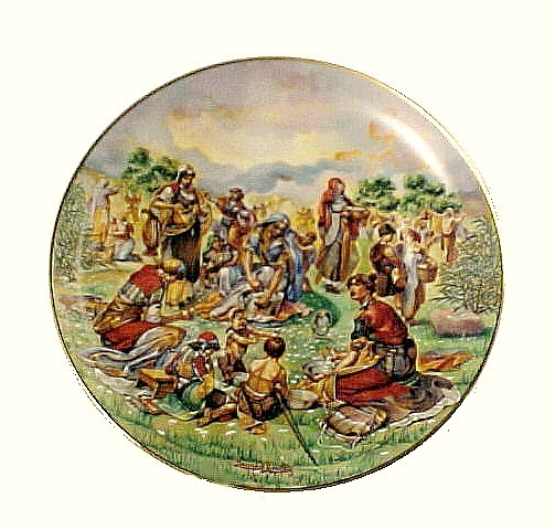 Primary image for Manna From Heaven Religious China Collector Plate Christian Vintage 1980