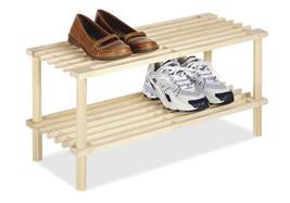 Wooden Clothes Books Shoes Closet Rack Shelves Storage Room Garage Offic... - $25.64
