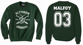 Malfoy 03 back New Slytherin Quidditch team CAPTAIN Unisex Crewneck Swea... - $46.00+