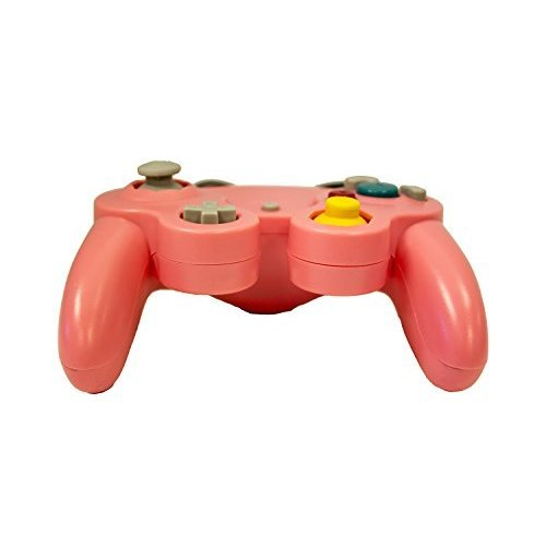 Replacement Controller Pink By Mars Devices Gamepad For GameCube Wii