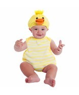 NEW NWT Boys or Girls Baby Duck Plush Bubble Costume 9-18 Months Halloween - $22.09 CAD