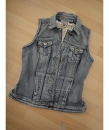 OSO Casuals Stretch Denim Lace Back Vest Size XS Ladies Never Worn No Tags - $16.82