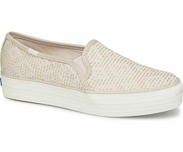 Keds Womens Triple Decker Matte Shine Slip-On Sneakers Petal Pink - $41.25