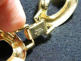 "VTG NAPIER Signed PAT. 4.774.743 Gold Tone Necklace Choker 20.5"" in Length image 5"