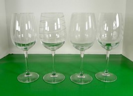 Mikasa Crystal CHEERS TOO Wine Goblet (s) LOT OF 4 Barware Signed - $29.65
