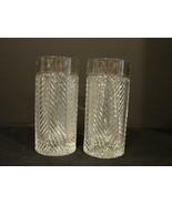 2  Highball Glass in Herringbone by Ralph Lauren Crystal  - $80.00