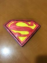 Hand Painted Ceramic Superman Logo Wall Ornament - $9.89