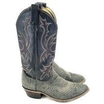 Mens DAN POST Black Red Stiching Cowboy Western Boots Size 7 D P2137 - $41.71