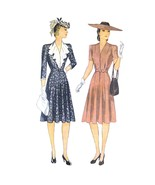 1940s Vintage Simplicity Sewing Pattern 3834 Flared Dress Flounce Ruffle... - $29.95
