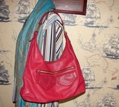 Cole Haan Red Leather Hobo Shoulder Bag - $49.00