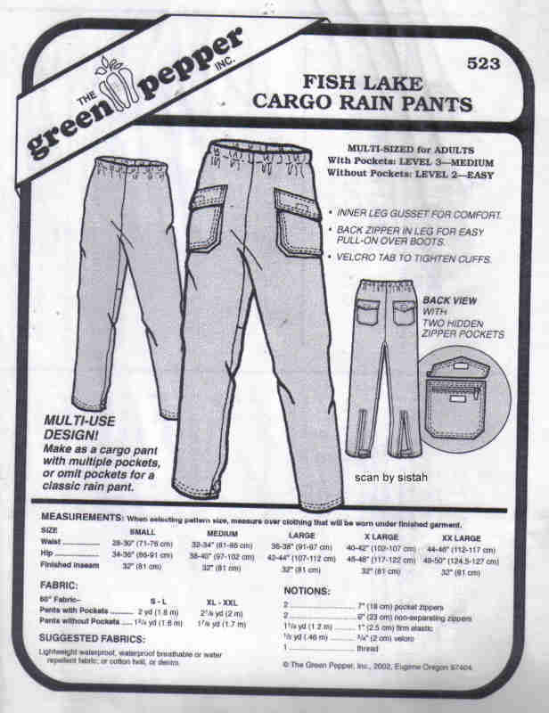 Green Pepper 523 Pattern Cargo Pants unisex  S M L XL XXL  rain casual VP1