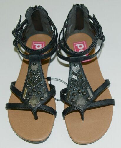 ELD 0386534 Pop Zora Zip Up Sandal Color Black Size 6M