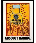 Absolut Haring AD 1986 Vodka Liquor Distillery Keith Haring Advertising Art - $18.99