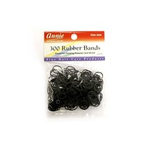 Annie 300 Rubber Bands Ponytail Holder Braids Headband Elastic Ring Blac... - $4.48