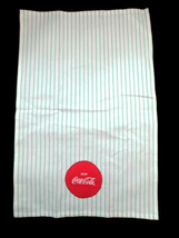 Coca-Cola Dish Towel Mint Stripe with Disc Round Logo Patch- BRAND NEW - $9.65