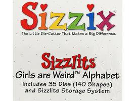 "Sizzix Sizzlits ""Girls are Weird"" Alphabet with Shadows Die Set image 3"
