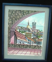Old Church of Guadalupe Puerto Vallarta Mexico Painting - $24.50
