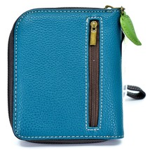 Chala Handbags Faux Leather Panda Turquoise Blue Zip Around Wristlet Wallet image 2