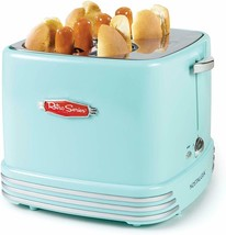 Retro Pop-Up 4 Hot Dog and Bun Toaster With Mini Tongs Works With Chicke... - £38.82 GBP